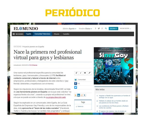 empresas gay friendly en los periódicos