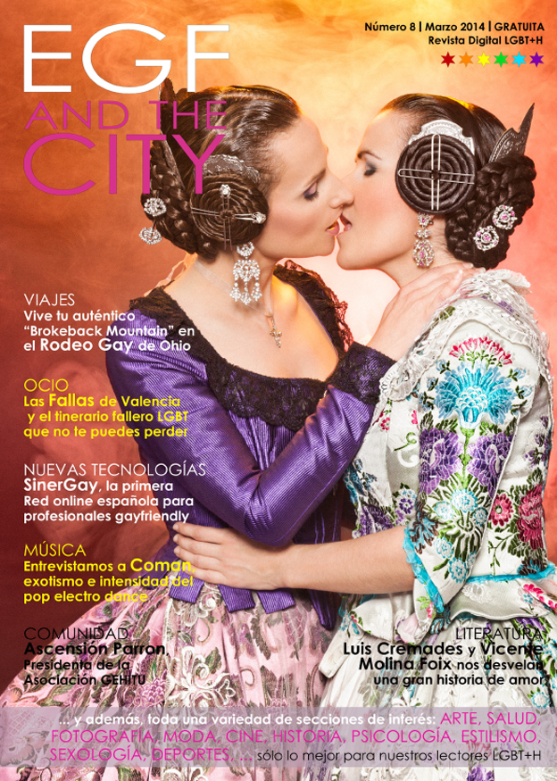 Portada fallera de la revista gay EGF and the City